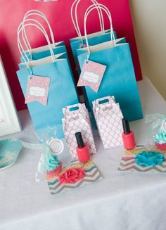 Teen Spa Party Ideas | nice spa idea with my little girl, at home. she would love this