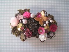 Sweet Pink Hair Barrette by wynbrit on Etsy, $48.00