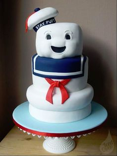 Best cake ever. Staypuft from Ghostbusters.