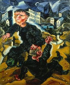 The Incident in the Suburbs, 1915, by Ludwig Meidner