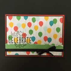 Scrapbooking card Let's celebrate