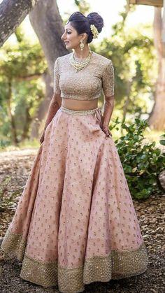 Kinas Designer Represent this Beautiful Designer Bridal Lehenga Choli in 2019 Indian Bridal Outfits, Indian Bridal Lehenga, Indian Designer Outfits, Designer Dresses, Pink Bridal Lehenga, Pakistani Bridal, Latest Wedding Dresses Indian, Baby Pink Saree, Punjabi Wedding Suit