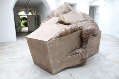 Henrique Oliveira. Boxoplasmose, 2011. Plywood, 1.95 x 2.9 x 2.05 m.