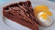 Πανεύκολη σοκολατένια τάρτα με πορτοκάλι