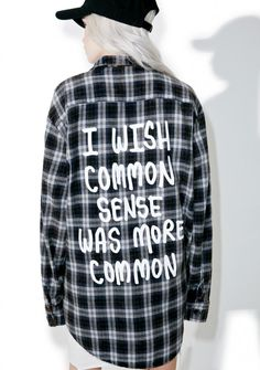Jac Vanek Common Sense Flannel   I need this!