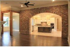 kitchen/brick archway