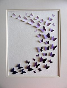 Purple Paint Chips Recycled - 3D Butterfly Art - 8x10 - Ready to Ship. $42.00, via Etsy.