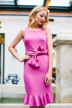 The Camilyn Beth 'Felicity' Dress in Fuchsia   Spring/Summer 2017
