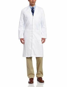 Special Price  Landau Men's Full-Length Lab Coat, White WWF, 46