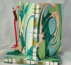 Notebooks and Journals - This reminds me of water and playing in the waves, xxx Natalie Handmade Journals, Notebooks, Artisan, Waves, Pintura, Notebook, Craftsman, Ocean Waves, Beach Waves