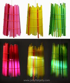 Solar Drinking Straw Lanterns
