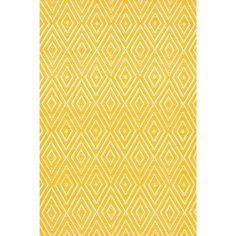 Dash and Albert Rugs Diamond Canary & White Indoor/Outdoor Area Rug & Reviews | Wayfair