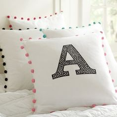"""Great looking pillow...and not because it says """"A""""!"""