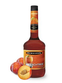 Check out this DeKuyper® flavor - DeKuyper® Pucker® Peach Schnapps Liqueur Flavored Alcohol, Liquor List, Cherry Liqueur, Refreshing Summer Drinks, Ripe Peach, Peach Schnapps, In Vino Veritas, Fruit, Liqueurs