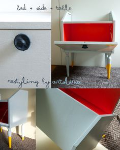 bed side table restyling by Artoleria, via Flickr