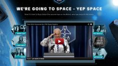 Youtube channel design interactive video portal space design Interactive Web Design, Buzz Aldrin, Man On The Moon, Portal, Compliments, Two By Two, Channel, Inspiration, Space