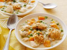 For creamy, cheesy comfort, try Food Network Kitchen's Almost-Famous Broccoli-Cheddar Soup, best served in big sourdough bread bowls. Soup Recipes, Chicken Recipes, Healthy Recipes, Healthy Meals, Dinner Recipes, Dinner Ideas, Delicious Meals, Healthy Cooking, Yummy Food