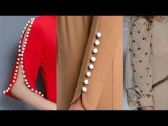 Latest Sleeves Designs For Kurti 2019 Full Sleeves Design, Kurti Sleeves Design, Kurta Neck Design, Sleeves Designs For Dresses, Fancy Blouse Designs, Blouse Neck Designs, Silk Kurti Designs, Kurta Designs Women, Kurti Designs Party Wear