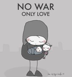 misspink: No war, only love...