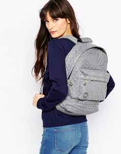 Buy Mi-Pac Quilted Backpack in Grey at ASOS. Get the latest trends with ASOS now. Latest Fashion, Latest Trends, Asos, Winter Jackets, Backpacks, Grey, Ladies Handbags, Winter Coats, Gray
