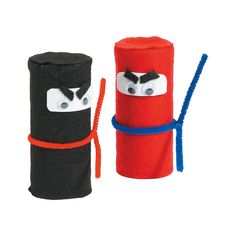 Ninja Craft Roll Idea | Kids will get a kick out of this DIY craft! This kids' craft is a fun activity for ninja birthday parties or group craft time. #kidscrafts