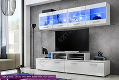 Living Room High Gloss Furniture Set Display Wall Unit Modern TV Unit  Cabinet Run