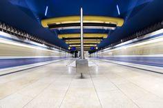 Olympia Einkaufszentrum (Munich) underground station by Alexander Hahn.