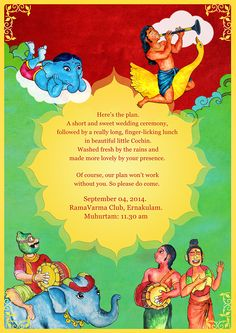 Vintage South Indian Theme Wedding Invite on Behance