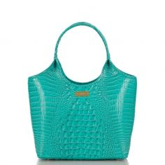 The smaller version of the capri shopper. A perfect summer hue. #brahmin #summer2013