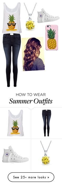 """""""12 days of pineapple"""" by rockylover2014 on Polyvore featuring Frame Denim, Bling Jewelry, Converse and Uncommon"""