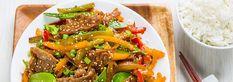 Sauté au bœuf teriyaki et légumes - Viandes Lacroix Japchae, Beef, Ethnic Recipes, Sauce, Food, Stir Fry Rice, Meat, Meal, Eat