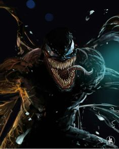 """You are watching the movie Venom on When Eddie Brock acquires the powers of a symbiote, he will have to release his alter-ego """"Venom"""" to save his life. Marvel Comics, Venom Comics, Marvel Venom, Marvel Art, Marvel Heroes, Marvel Avengers, Venom Spiderman, Marvel Villains, Venom Art"""