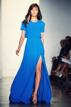 gorgeous blue ombre dress by the brilliant Peter Som