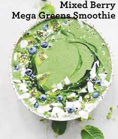 ripe banana fresh/frozen  ½ cup frozen mixed berries  1 handful organic kale  1 tsp. Melrose Complete Mega Greens  1 tbsp. Organic Rolled Flaxseeds  1 tbsp. Melrose Organic Flaxseed oil  1 – 1 ½ cups coconut water  #melrose #melrosemoment