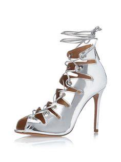 Metallic lace-ups - very on trend