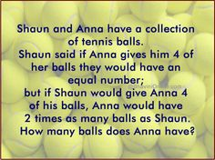 How Many Tennis Balls Does Anna Have