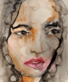 "Saatchi Art Artist Lisa Krannichfeld; Painting, ""Brown I (The Skeptic)"" #art"