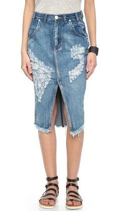 One Teaspoon Cobain Cadillac Skirt