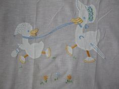 Crib Blanket 1940s SUMMER lightweight cotton by dhedwards on Etsy, $18.50