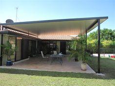 Image result for reverse skillion verandah roof with flyover