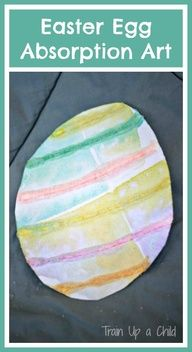 Easter Craft for Kids Absorption Art - Let little ones explore art with watercolors (or food coloring!), salt and glue. Fun for all ages, toddlers on up.