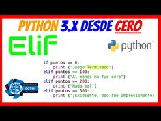 Python 3.x desde cero - YouTube Youtube, Be Awesome, Games, Youtube Movies