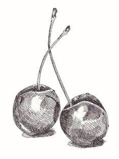 Pencil Art Drawings, Art Drawings Sketches, Hatch Drawing, Drawing With Pen, Shading Drawing, Stylo Art, Ink Pen Art, Fruits Drawing, Object Drawing