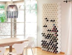 Honeycomb modular Wine Bottle Rack - Wine Racks £24.00 for a unit which holds up to 10 bottles #LetsCurate