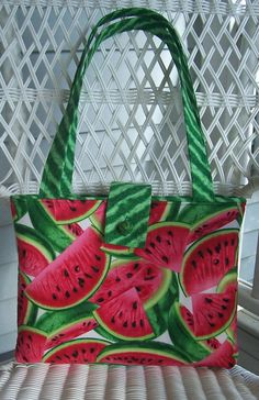 Watermelon Handbag by OhSewFun1 on Etsy, $40.00