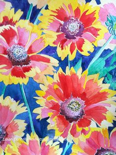 http://itsadomelife.com Lillian Connelly #art #watercolor #artists