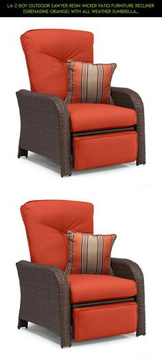 La-Z-Boy Outdoor Sawyer Resin Wicker Patio Furniture Recliner (Grenadine Orange) With All Weather Sunbrella Cushions #plans #parts #fpv #furniture #products #recliner #gadgets #kit #camera #shopping #technology #drone #patio #tech #racing