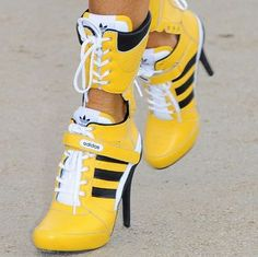 High-Heel Adidas Sneakers: Is This a DO or a DON'T? Vote and Sound Off Here!  Sorry a big don't