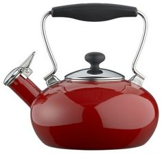 Chantal® Red Bridge Tea Kettle - Modern - Kettles - by Crate&Barrel