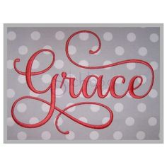Stitchtopia Grace Embroidery Font #2 Embroidery Software, Hand Embroidery Stitches, Embroidery Fonts, Machine Embroidery Designs, Embroidery Sampler, Embroidery Monogram, Embroidery Techniques, Embroidery Ideas, Script Lettering